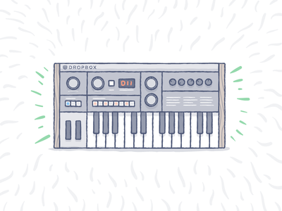 DB Groovin' illustration synth jam keyboard music groovy