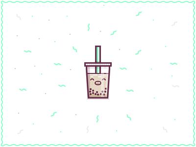 Boba illustration vector tea boba tasty lipsmacking