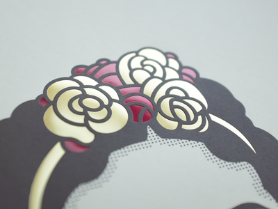 Frida Print illustration print foil flowers artist frida art