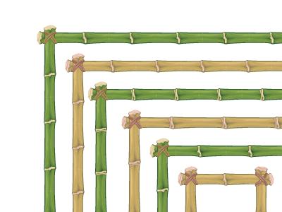 Bamboo pattern brush
