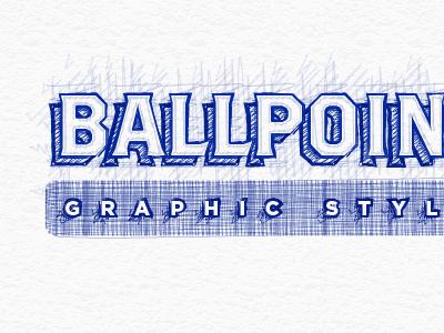 Ballpoint pen graphic style