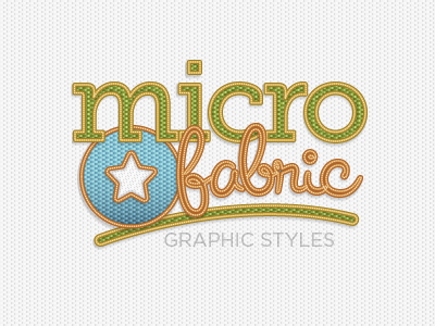 Micro Fabric Graphic Style vector illustrator texture fabric badge graphic style typography
