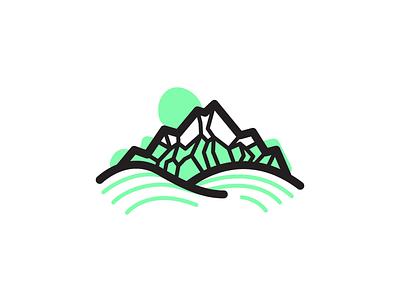 Promo Mountain Icon illustration icon mountain vector promo monoline