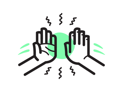 Hi5 illustration icon vector celebrate high five team