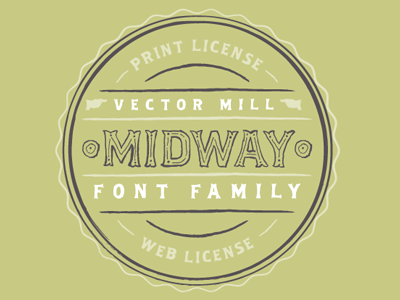 Midway Font illustrator vector typography font text type midway badge