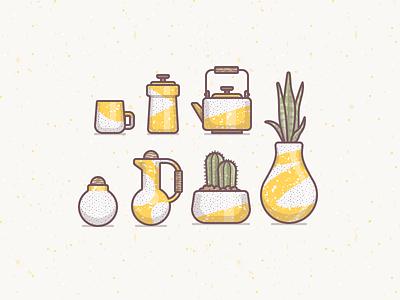 Ceramic Ideas illustration pottery ceramics teapot texture icon plants art