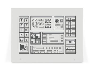 Digital Tools Print illustration print illustrator tools collection screenprint