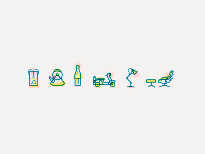 Geometric Gesture Icons 01 illustration icons vector gesture stroke multiply teapot radio eames anglepoise dieter rams