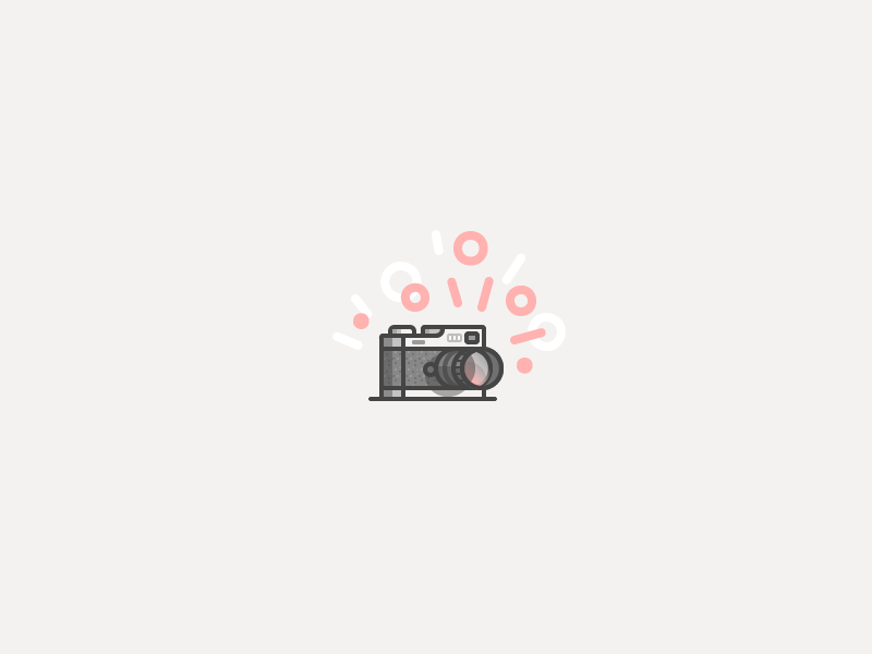 ・゚*✧Snap✧ *・゚ illustration icon vector camera pattern lens