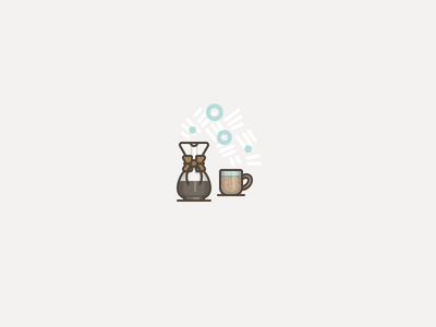 ・゚• ◦ Buzz ◦ • ・゚ caffeine mug chemex coffee icon vector illustration