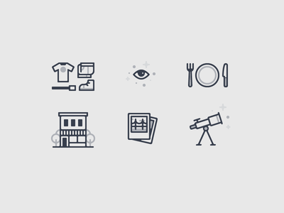 Operator Icons photos sf telescope plates shop clothing illustrations vector