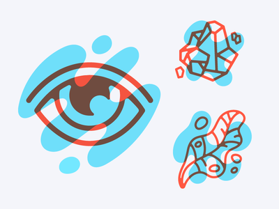 Enlighten Icons enlighten plant leaf rock eye icon illustration vector