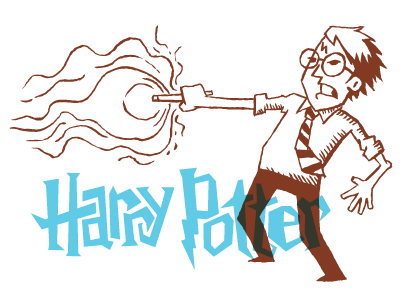 Harry Potter sketch illustration typography drawing harry potter movie magic glasses
