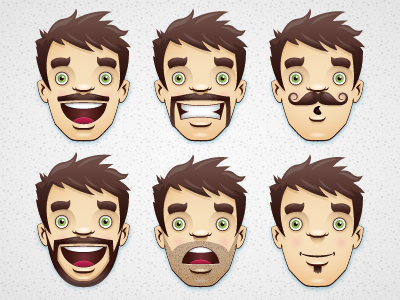 Moustaches And Beards vector illustrator moustache beard avatar character texture