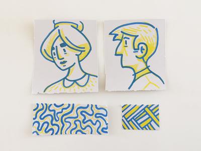 Paint Marker Doodles pattern texture markers doodles analog illustration