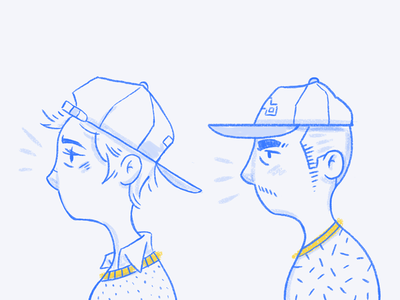 Cap Characters  texture pattern hat cap avatar characters sketch hand-drawn illustration