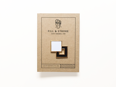 Fill And Stroke Pin packaging icon fill and stroke soft enamel pin