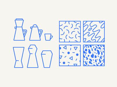 Ceramics Doodles doodles icons patterns sketch mock illustration vector