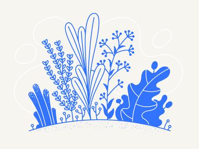 Garden life growth texture nature garden plants illustration vector