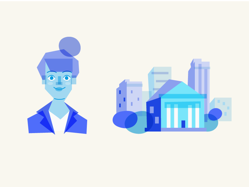 Style Exploration overlay abstract buildings character avatar vector illustration