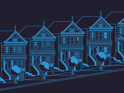 SF Guide Elements 09 san francisco painted ladies home illustration vector
