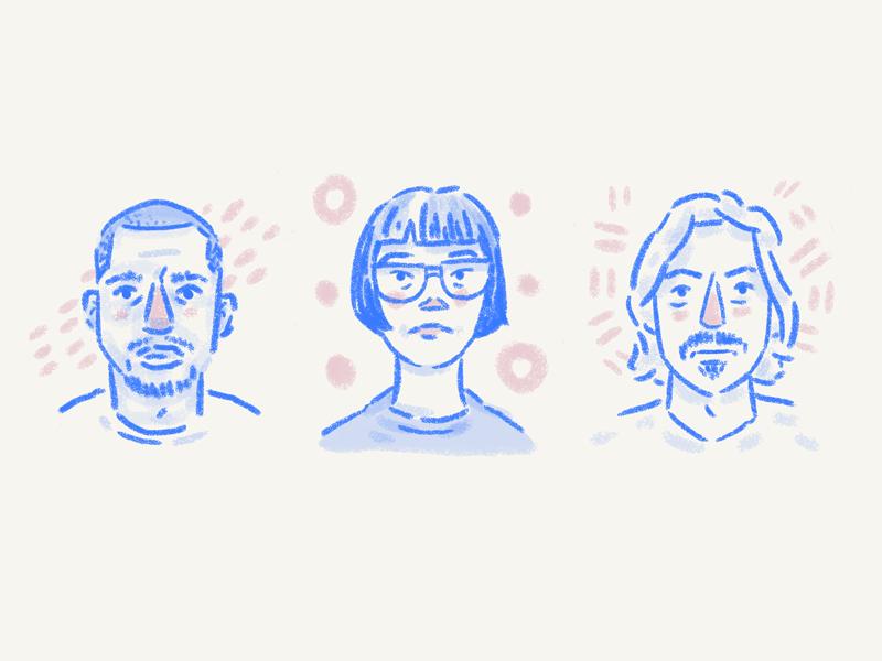 Portrait Studies texture pattern avatar character portrait sketch hand-drawn illustration