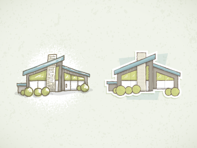 Icon Style? vector illustrator style house retro