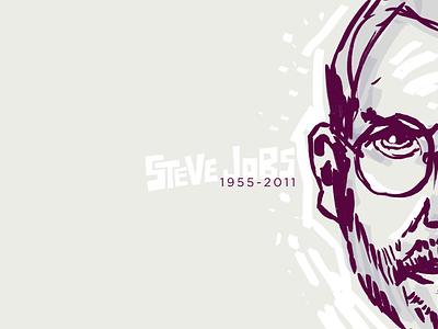 Steve steve jobs apple sketch drawing hand-drawn wallpaper