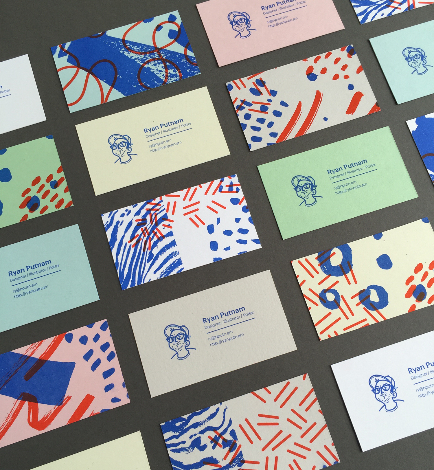 Dribbble business cards bigg by ryan putnam business cards big colourmoves