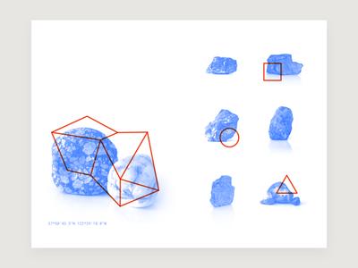 Walk Spread 06 geometric rocks illustration photo print design layout
