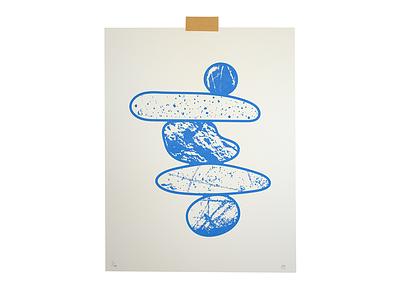 Balance riso print texture mindful balance illustration