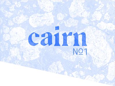 Cairn Logotype texture logotype type logo typography illustration