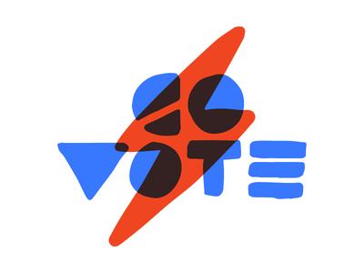 Go Vote  print hand-drawn typography illustration vote