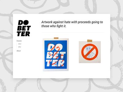 Do Better Shop hope help riso prints shop website