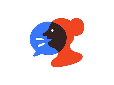 Call Your Rep Mark avatar woman talk person icon mark logo illustration