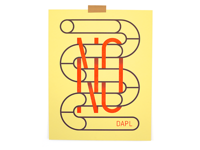 NoDAPL Print pipe help poster typography riso print