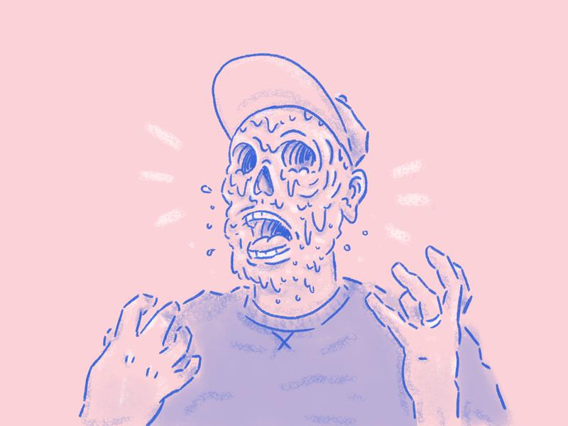 Mood melt face facemelt character avatar illustration