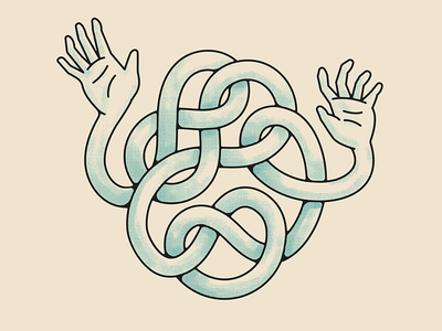 Arm Around You texture hands tangled arms illustrations