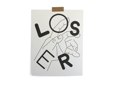 Loser 02 riso print typography illustration