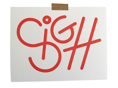 Sigh 01 texture sign print riso illustration typography