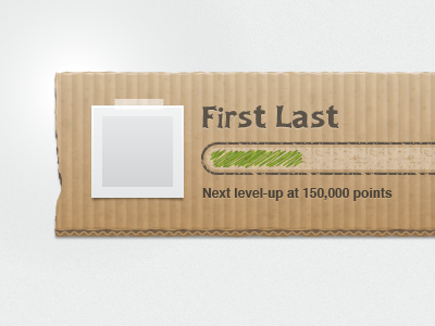 Cardboard UI vector illustrator texture cardboard ui typography midway