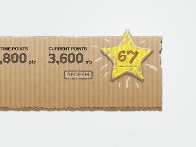 Cardboard Ui Star vector illustrator texture cardboard ui typography midway star