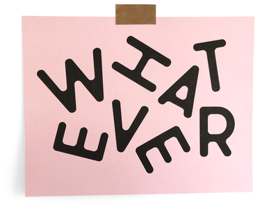 Whatever whatever texture illustration print riso typography