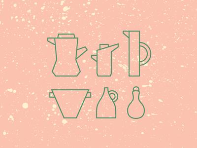 Pots pottery texture ceramics pots illustration