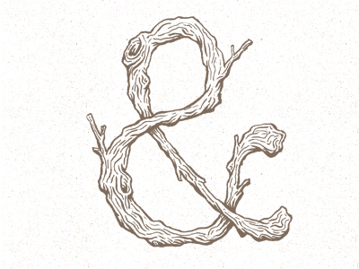 Amperbranch ampersand wood texture typography type rustic