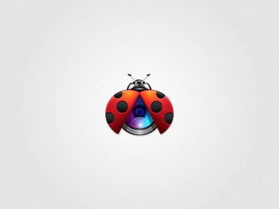 Ladybug Lens vector illustrator logo icon ladybug bug lens camera identity
