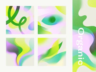 Organic Theme eye gradient shapes abstract illustration