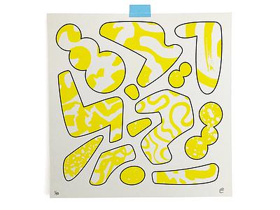 Model print risograph shapes abstract illustration