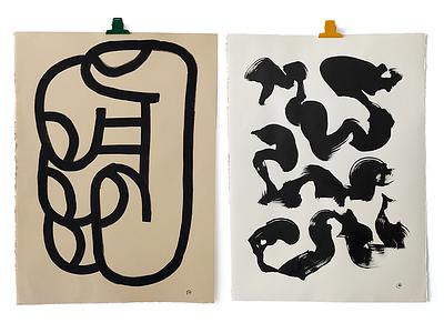 Originals2 hand paint texture abstract ink art