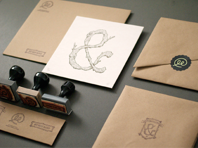 Amperbranch Packaging packaging brand stamp ampersand typography sticker print letterpress envelope mail